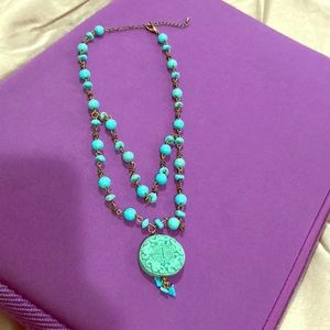 Jewelry - Boutique vintage turquoise stone necklace